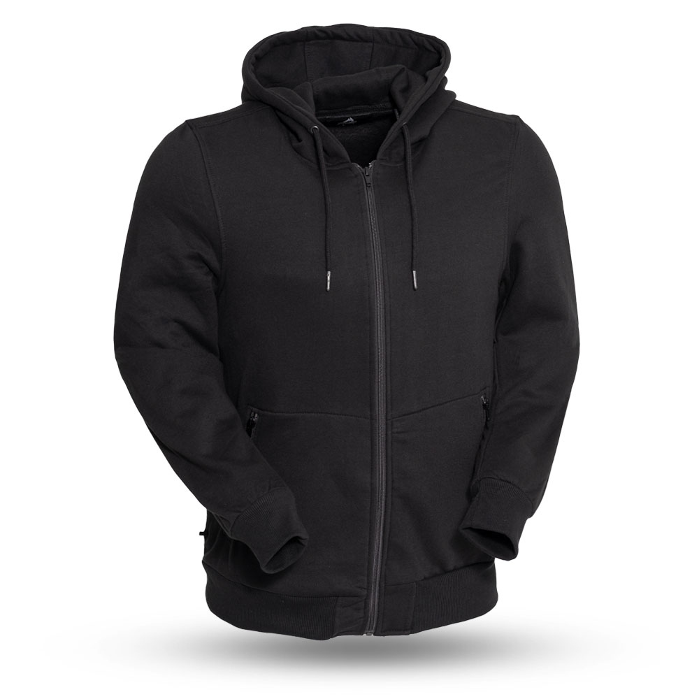 14478bff Rook Men's Denim Vest with Removable Black Hoodie